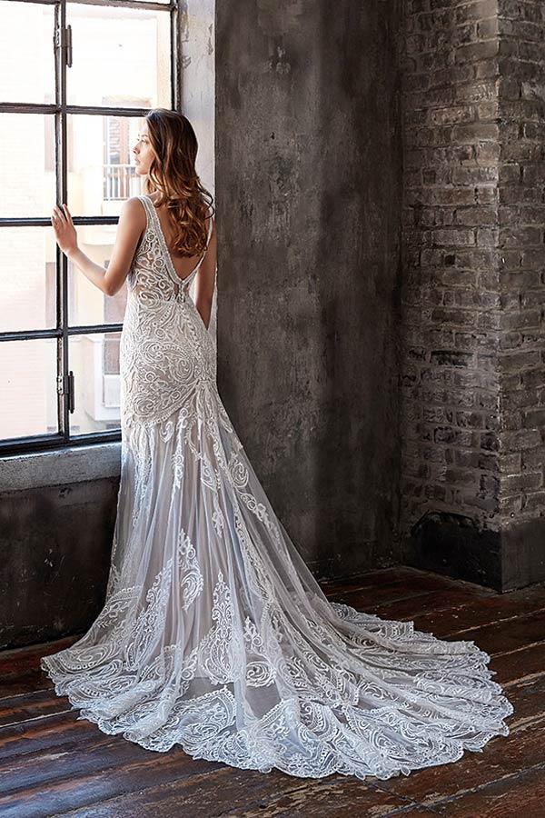 Brautmoden Trend 2020 - lange Schleppe