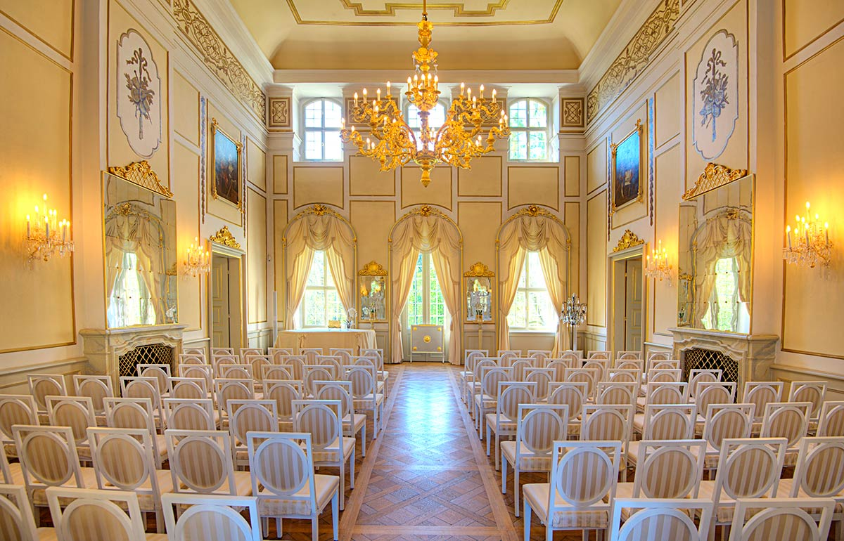 Heiraten im Spiegelsaal im Barockschloss Rammenau