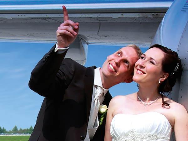 Hochzeit im Flughafen Dresden