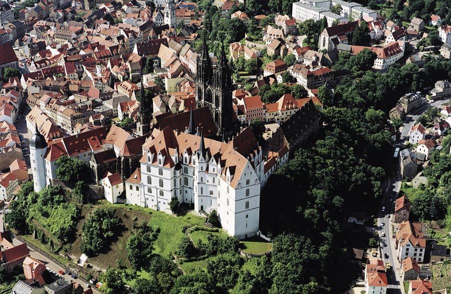 Albrechtsburg Meissen Luftaufnahme