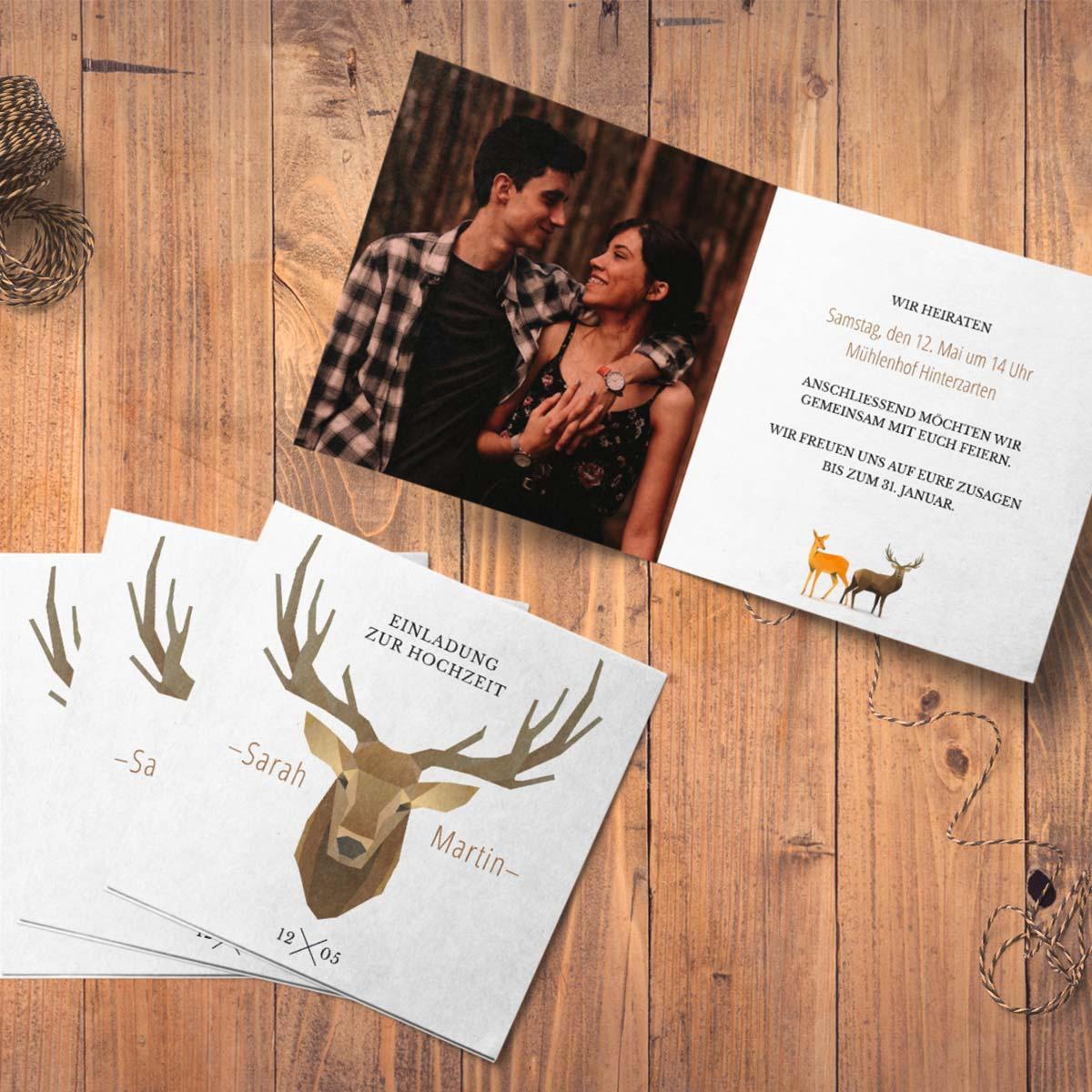 Meine Hochzeitskarten online bestellen