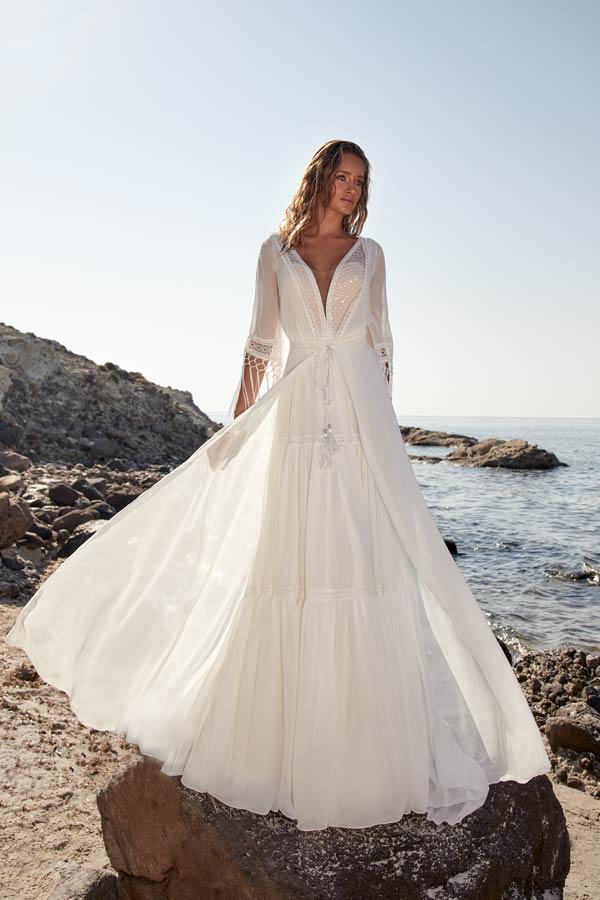 Brautkleid Trend leichte Stoffe